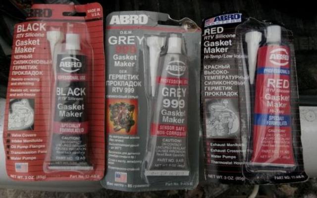 Черный, серый и красный автогерметики с уникальным набором свойств