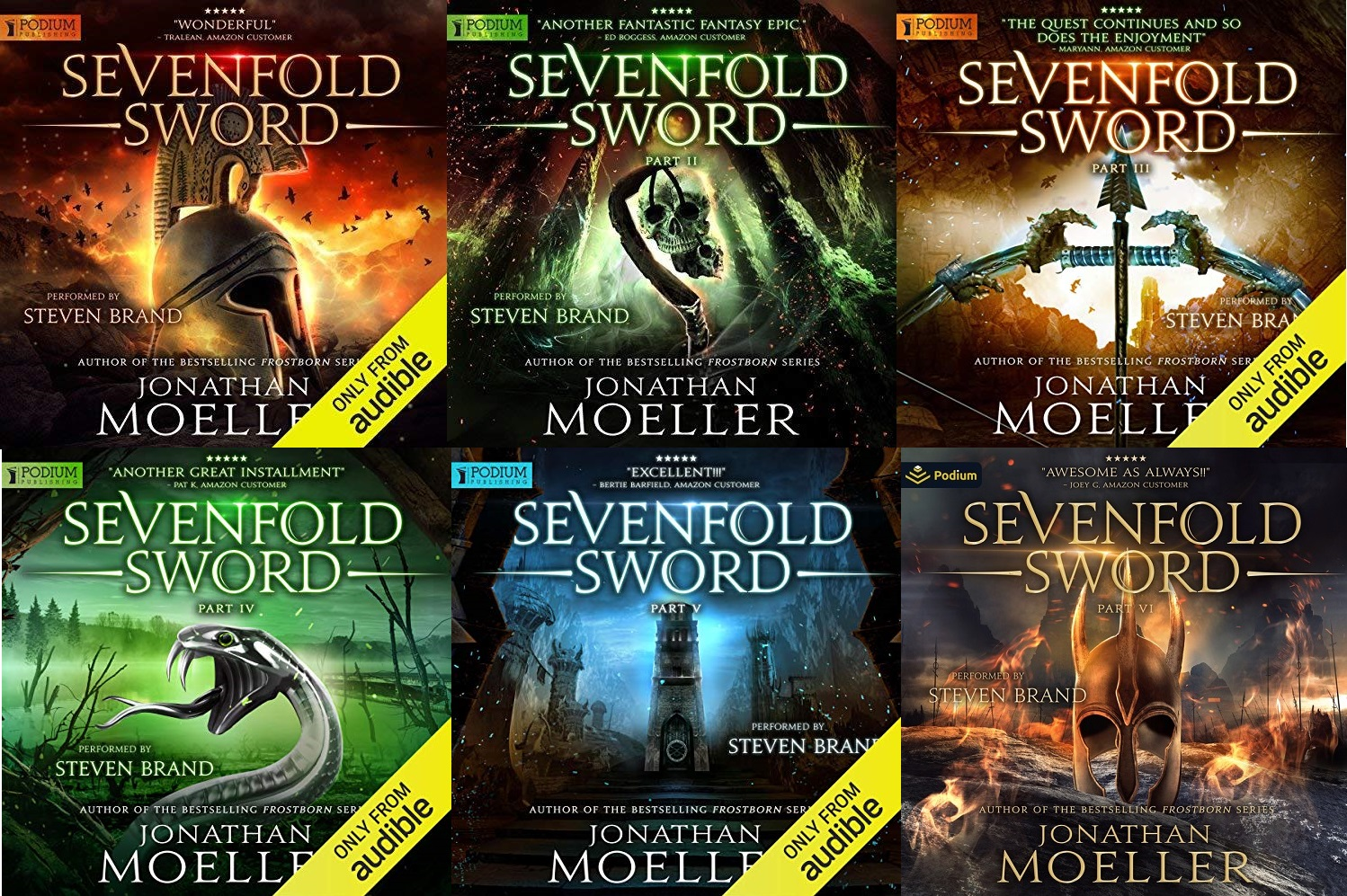 Sevenfold Sword Series Book 1-12 - Jonathan Moeller