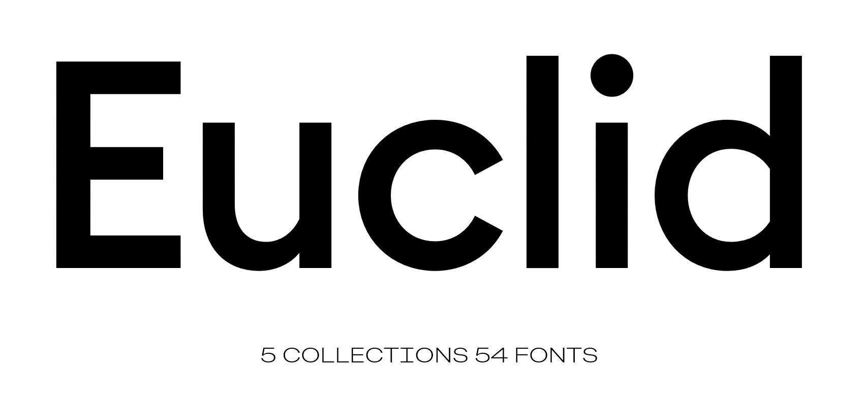 Семейство шрифтов Euclid