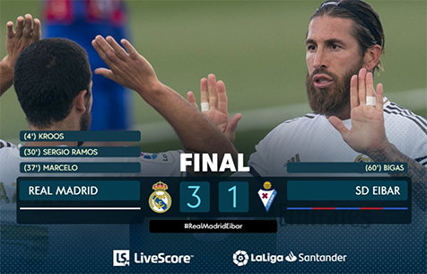 Real Madrid C.F. - SD Eibar 3:1