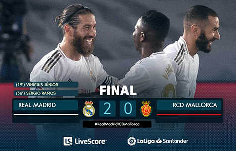 Real Madrid C.F. - RCD Mallorca 2:0