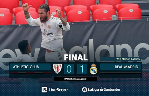 Athletic Club de Bilbao - Real Madrid C.F.  0:1
