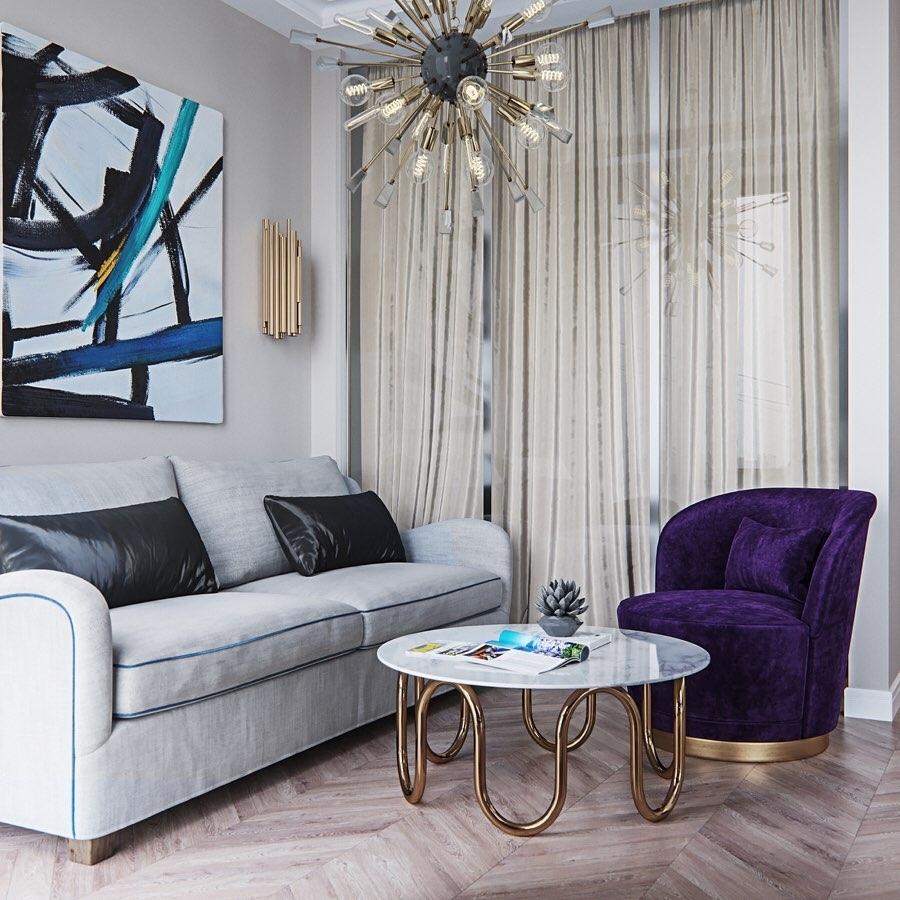 Кресло V007 в интерьере: автор дизайна Анастасия Волошина