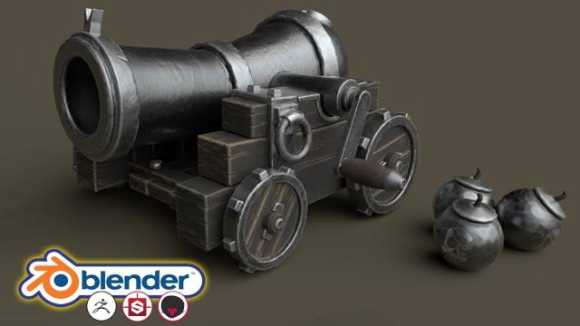 Skillshare | Создание стилизованной 3D модели для игр в Blender 2.83 / Blender 2.83 & More: Stylised 3D Game Model Complete Beginners Guide (2020) PCRec [EN / EN Sub]