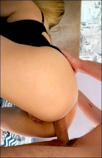 EllisLips - Жестко присунул в узкую попку сисястой блондинке / Painful Anal. The Blonde got a Cock in a Tight Ass (2019) CAMRip 720p
