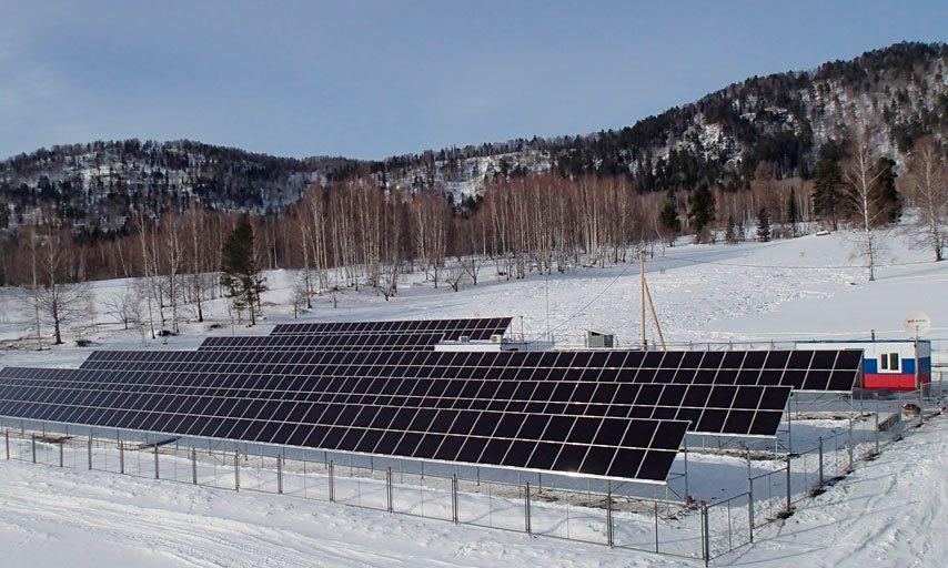 Гибридная дизель-солнечная электростанция в поселке Яйлю Алтайского края