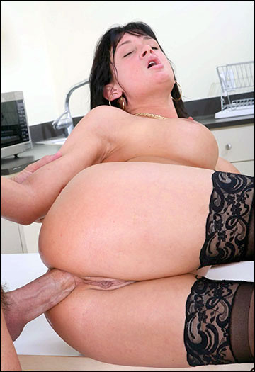 Tory Lane - Takes a Huge Cock in Her Ass / Shaved Tory Lane fucking in the break room with her glasses