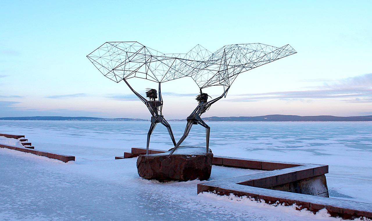 Онежинское озеро в Петрозаводске зимой