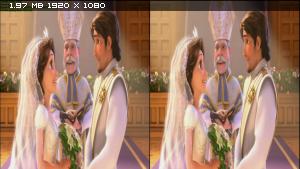 Рапунцель: Счастлива навсегда в 3Д / Tangled Ever After 3D  Горизонтальная анаморфная