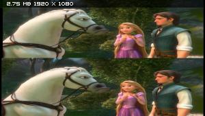 Рапунцель: Запутанная история в 3Д / Tangled 3D (2010) BDRip 1080p / 7.23 Gb [Half OverUnder / Вертикальная анаморфная стереопара]
