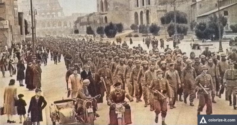 Парад пленных в Париже